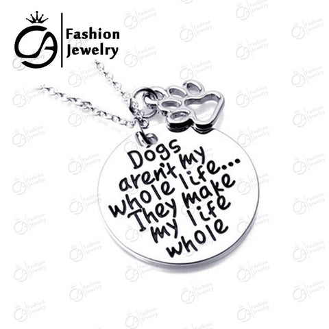 Dogs aren't my whole life ... Pet Lover Dog Prints - East Gold
