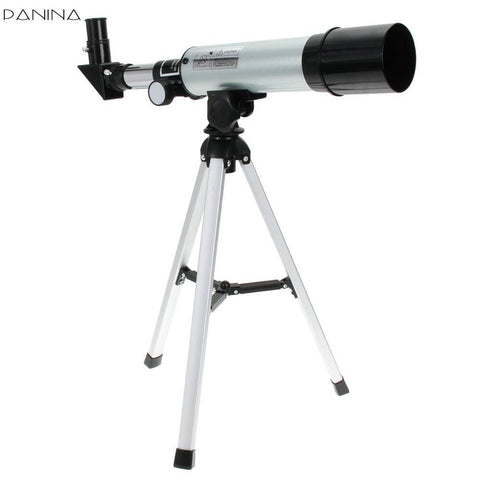 Refractive Astronomical Telescope with Portable Tripod Spotting Scope Outdoor Monocular Astronomical Telescopes - East Gold