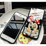 Fashion Cartoon Lovers Mickey Mouse Minnie cover soft TPU silicon case For iPhone 7 SE 5/5s 6 6s / plus 7 plus - East Gold