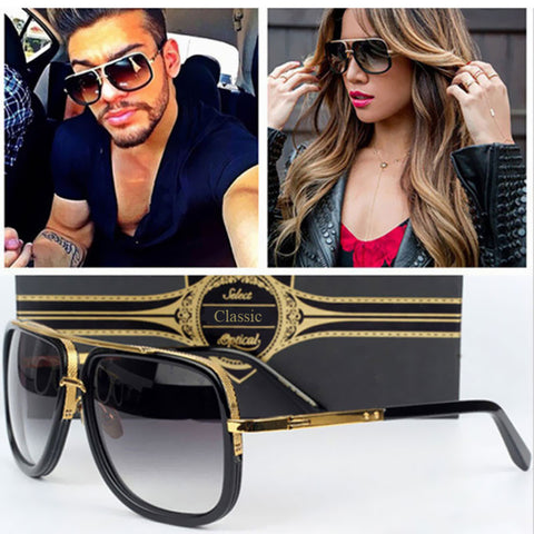 Luxury Square Cool Sunglasses - East Gold