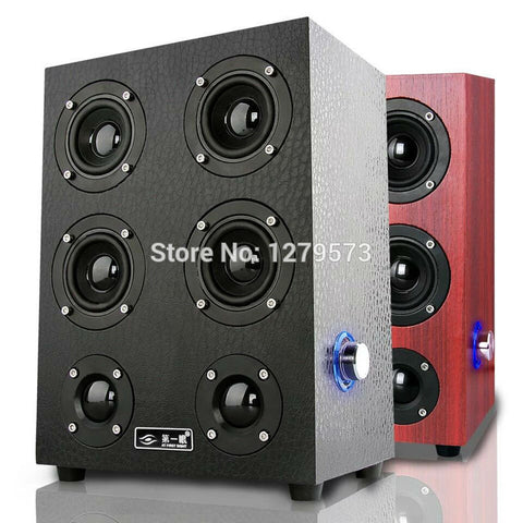 Floorstanding Speakers, HiFi-Mini HD Speakers for Desktop PC, Notebook, Tablet, Smartphone, Home Theater, TV, Music Systems - East Gold