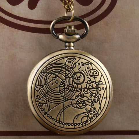 Bronze Doctor Who Style Fashion  Quartz Pocket Watch Best Gift - East Gold