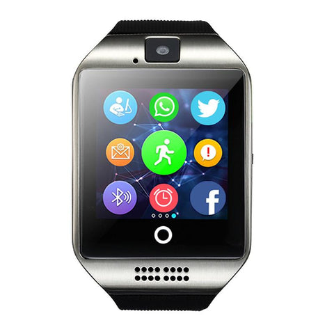 SENBONO Q18  Passometer Smart watch  with Touch Screen camera TF card Bluetooth smartwatch for Android  IOS Phone - East Gold