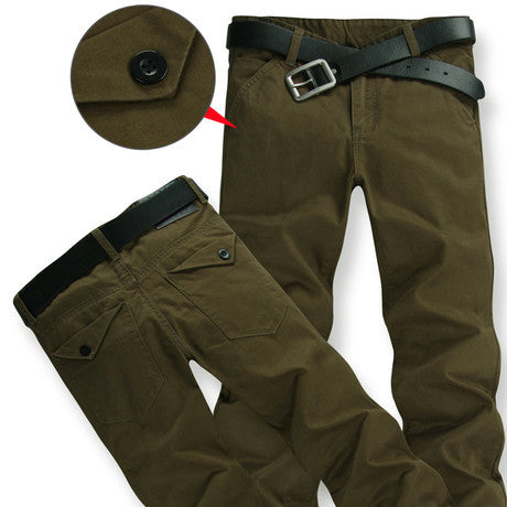 Military Cotton Casual Trousers - East Gold