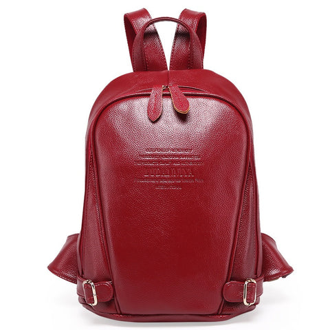 GENUINE LEATHER Double-Shoulder Casual Back Pack - East Gold