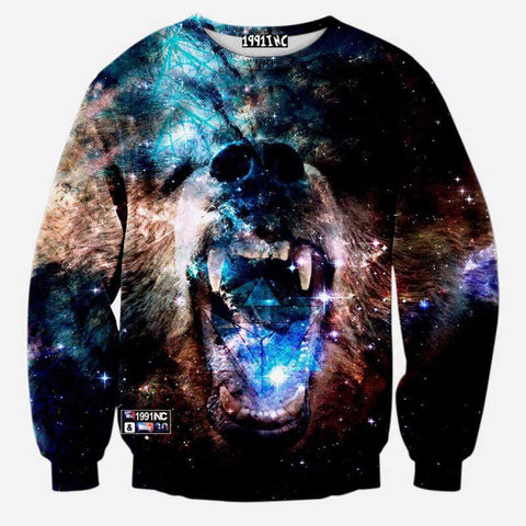 3D Graphic Sweatshirts - East Gold