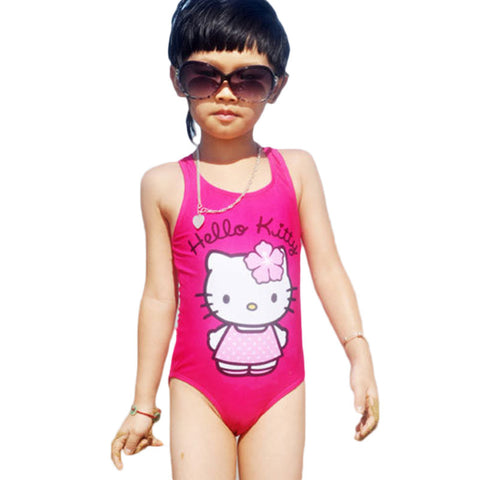 Hello Kitty Girl's Swimsuit - East Gold