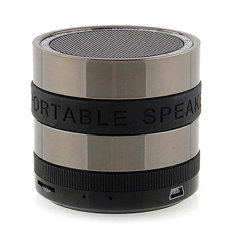 Hifi Stereo Wireless Bluetooth Speaker Camera Lens Style Mini Portable Super Bass Subwoofer Loudspeakers with Mic TF Cards Slot - East Gold