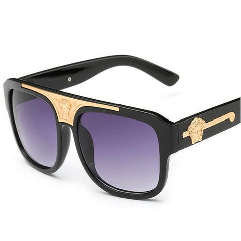 High-Quality Grandmaster big box Sunglasses Men Women Sunglasses Brand Designer Sun Glasses Oculos De Sol Feminino - East Gold