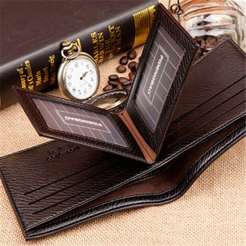 Leather Multifunctional Billfold Card Holder Wallets - East Gold