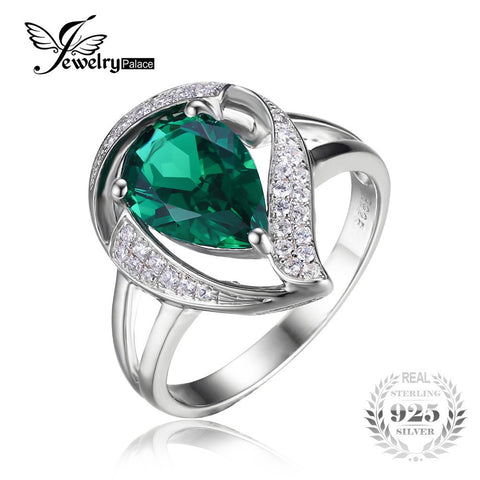 1.7ct Nano Emerald Ring - East Gold