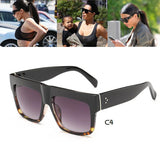 Kim Kardashian Sunglasses Lady Flat Top Lunette Sunglasses Women - East Gold
