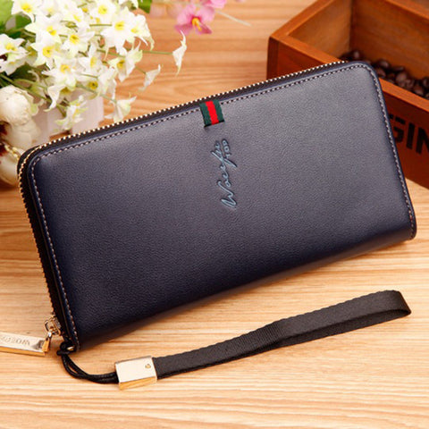Long Leather Wallet - East Gold