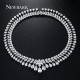 Royal Statement Necklace Choker Zirconia  Necklaces   Pendant Luxury Jewelry   East Gold