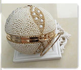 Pearls Beaded Gold Clutch - East Gold