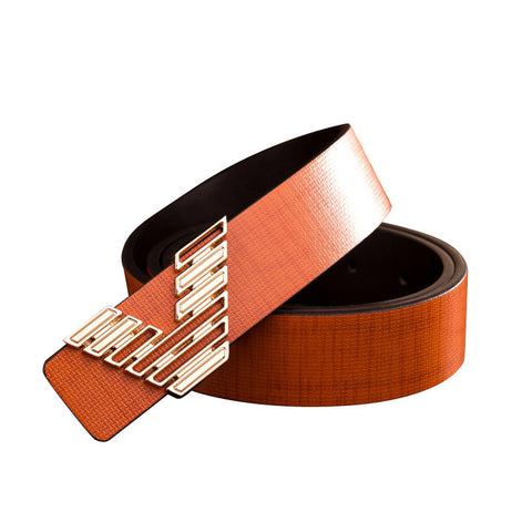 Alphabet Casual Luxury Belts   East Gold
