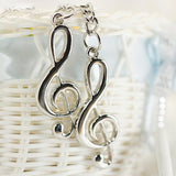 Silver Plated Musical Note Keychain - East Gold