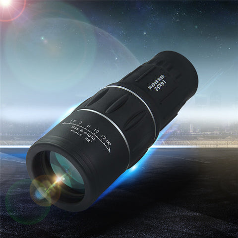 16x52 Dual Focus Zoom Optic Lens Day Night Vision Armoring Travel Monocular Telescope Tourism Scope Binoculars - East Gold