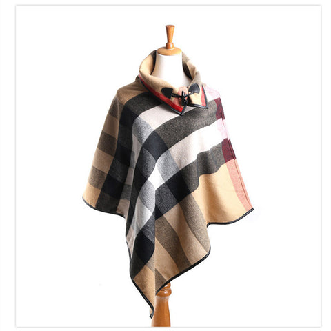Cashmere Shawl Poncho Blanket Scarf - East Gold