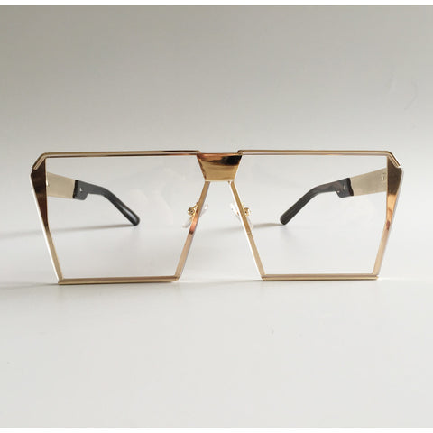 Designer Oversized Sunglasses - East Gold