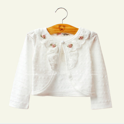 100% Cotton White Floral Jacket - East Gold