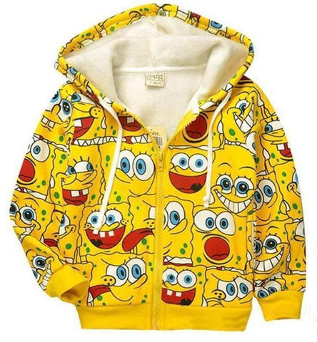 Sponge Bob Thick Hoodies - East Gold