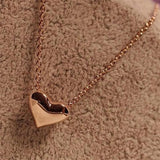 Romantic Heart Shape Body Necklace   East Gold