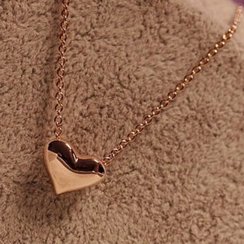 Gold Heart Necklace   East Gold