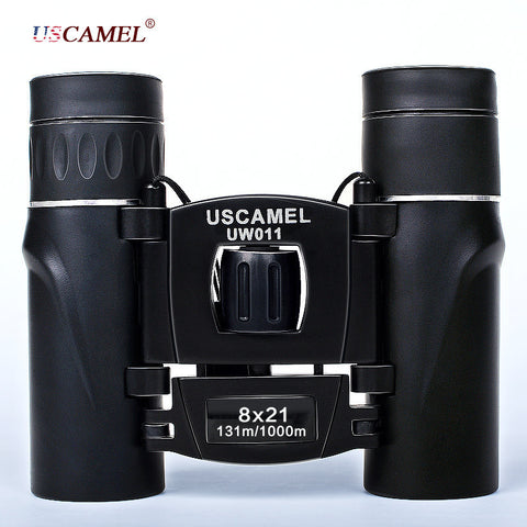 Compact Zoom Binoculars Long Range 3000m Folding HD Powerful Mini Telescope Bak4 FMC Optics Hunting Sports Black - East Gold