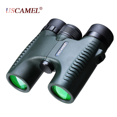 Military Compact 10x26 HD Waterproof Binoculars Clear Vision Zoom Professional Telescope for Travel Outdoor Hunting - East Gold