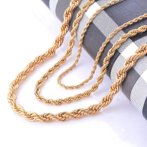 Gold Rope Chain Necklace   East Gold