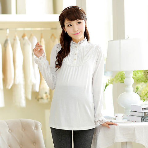 Cotton Maternity Clothing Tops - East Gold
