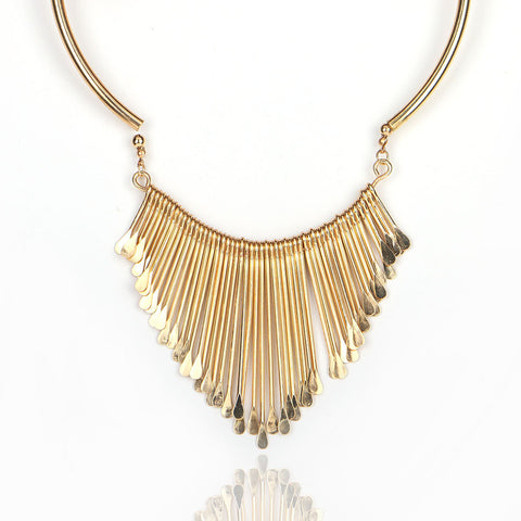 Alloy Statement Necklace   East Gold