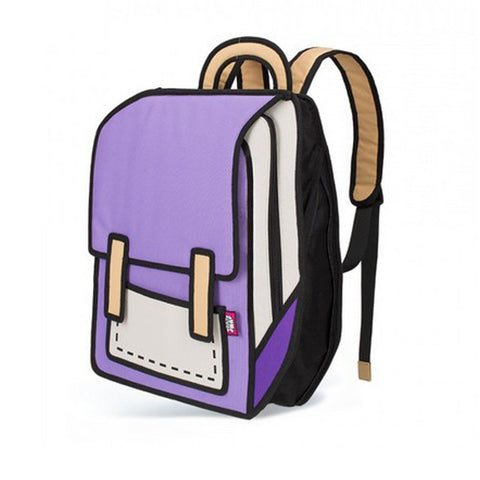 3D Drawing Book Bag - East Gold