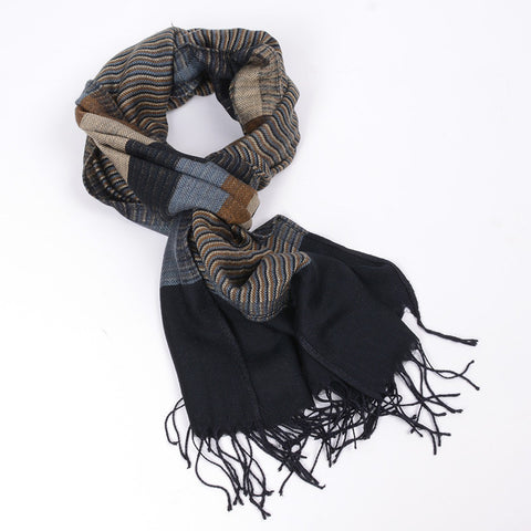 Double Fine Striped Scarves - East Gold