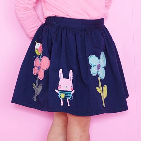 Cartoon Floral Pattern Skirts - East Gold