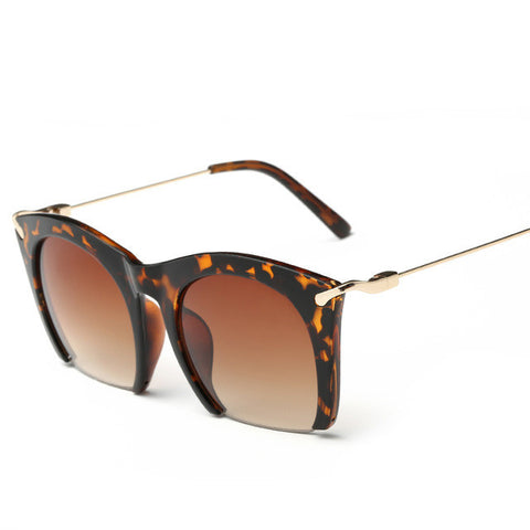 Half frame Tinted Sunglasses - East Gold