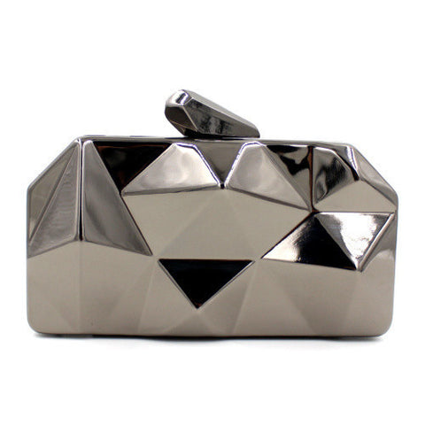Metallic Gold Evening Clutch Bag - East Gold