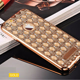 Luxury Gold Bling Glitter Plating Diamond Phone Case For iPhone 7 Plus iPhone 6 6S Plus Soft TPU - East Gold