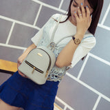 Leather mini Style Backpack - East Gold
