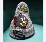 Tom and Jerry Beanie Knitting Hat Cap - East Gold