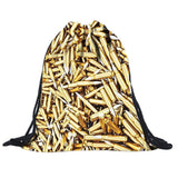 Canvas Drawstring Backpack - East Gold