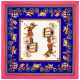 Horse and Carriage Square Scarf - East Gold
