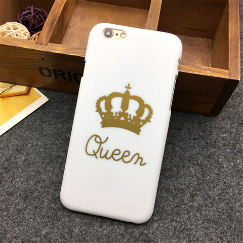 King Queen Hard Plastic Ultra Thin Back Covers for Apple iPhones - East Gold