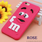 Cartoon M&M's Chocolate Candy Rubber Case For iPhone 6 6S 7 Plus 4 4S 5C SE 5 5S - East Gold