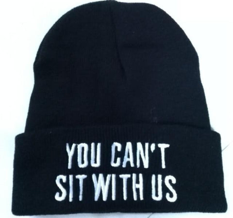 YOU CAN'T SIT WITH US   Beanie - East Gold