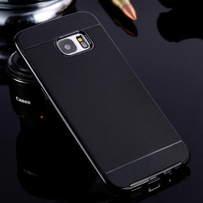 For Galaxy S7 Edge Hybrid Cover PC Frame TPU Silicon Armor Case For Samsung Galaxy S7 Edge Luxury Tough Mobile Phone Accessories - East Gold