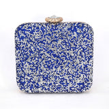 Luxury Sparkly Crystal Encrusted Clutch Bag - East Gold