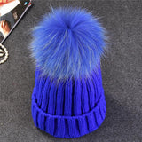 Xthree Mink  Fur pom poms winter Hat - East Gold