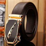 Luxury  leather gold jaguar buckle   East Gold